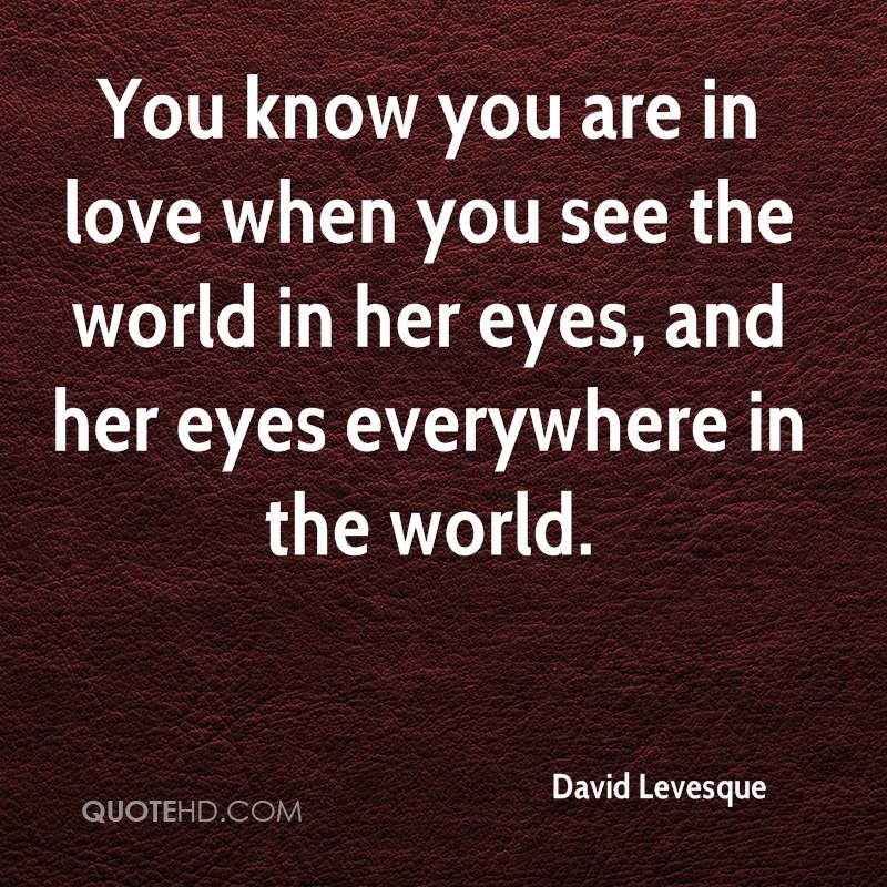 You Know You Re In Love When Quotes: David Levesque Quotes