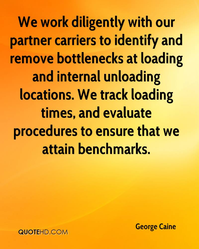 We work diligently with our partner carriers to identify and remove bottlenecks at loading and internal unloading locations. We track loading times, and evaluate procedures to ensure that we attain benchmarks.