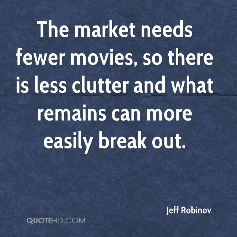The market needs fewer movies, so there is less clutter and what remains can more easily break out.