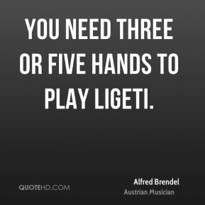 You need three or five hands to play Ligeti.