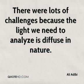 Ali Adibi - There were lots of challenges because the light we need to analyze is diffuse in nature.