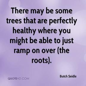 Butch Seidle - There may be some trees that are perfectly healthy where you might be able to just ramp on over (the roots).