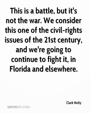 Clark Neily - This is a battle, but it's not the war. We consider this one of the civil-rights issues of the 21st century, and we're going to continue to fight it, in Florida and elsewhere.