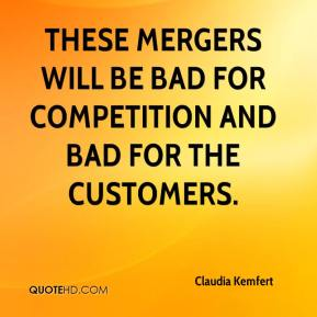 Claudia Kemfert - These mergers will be bad for competition and bad for the customers.