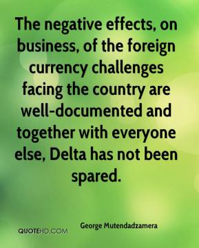 George Mutendadzamera - The negative effects, on business, of the foreign currency challenges facing the country are well-documented and together with everyone else, Delta has not been spared.