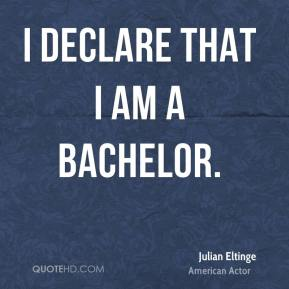 I declare that I am a bachelor.