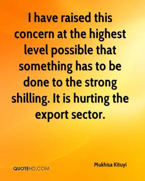 Mukhisa Kituyi  - I have raised this concern at the highest level possible that something has to be done to the strong shilling. It is hurting the export sector.