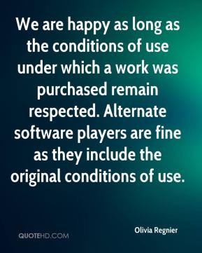 We are happy as long as the conditions of use under which a work was purchased remain respected. Alternate software players are fine as they include the original conditions of use.