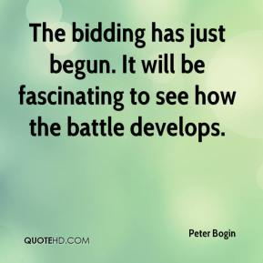 The bidding has just begun. It will be fascinating to see how the battle develops.