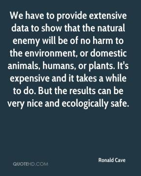 Ronald Cave  - We have to provide extensive data to show that the natural enemy will be of no harm to the environment, or domestic animals, humans, or plants. It's expensive and it takes a while to do. But the results can be very nice and ecologically safe.