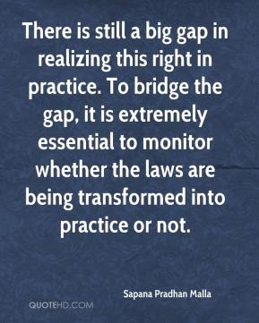 There is still a big gap in realizing this right in practice. To bridge the gap, it is extremely essential to monitor whether the laws are being transformed into practice or not.