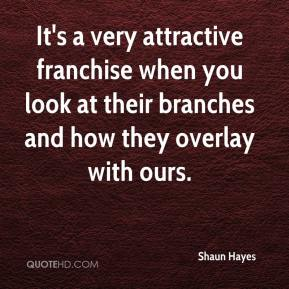 Shaun Hayes  - It's a very attractive franchise when you look at their branches and how they overlay with ours.