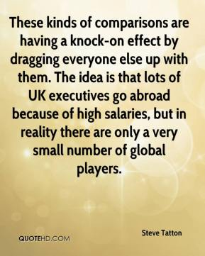 Steve Tatton  - These kinds of comparisons are having a knock-on effect by dragging everyone else up with them. The idea is that lots of UK executives go abroad because of high salaries, but in reality there are only a very small number of global players.