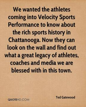 We wanted the athletes coming into Velocity Sports Performance to know about the rich sports history in Chattanooga. Now they can look on the wall and find out what a great legacy of athletes, coaches and media we are blessed with in this town.