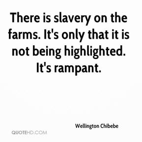 Wellington Chibebe  - There is slavery on the farms. It's only that it is not being highlighted. It's rampant.