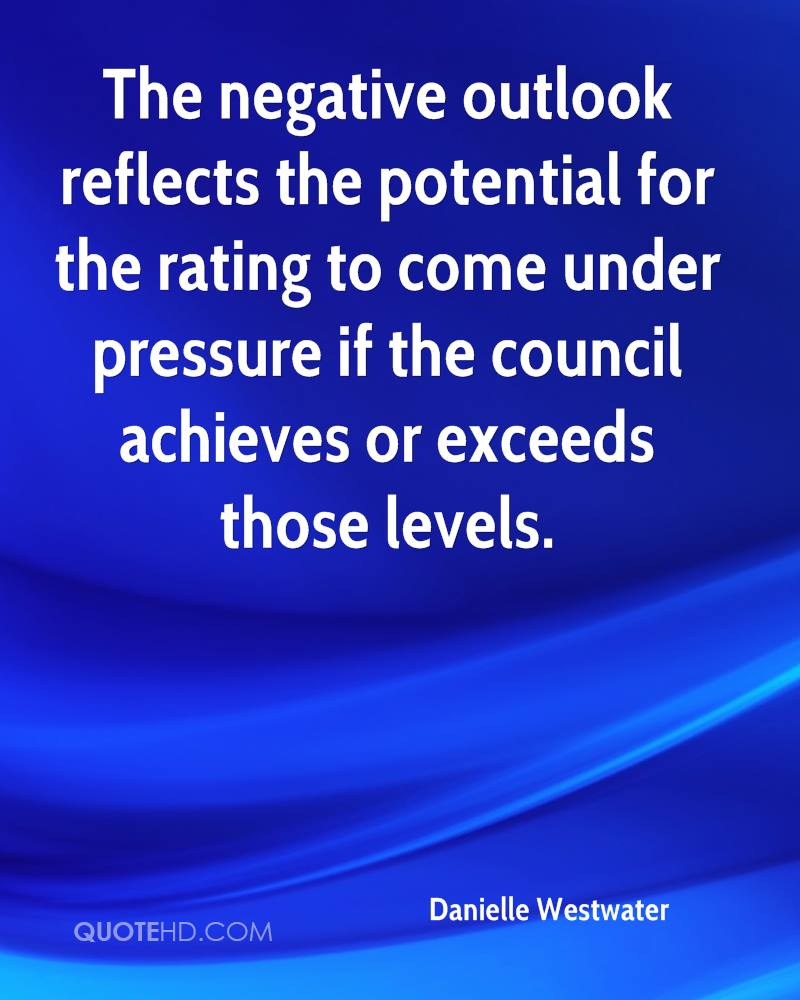 The negative outlook reflects the potential for the rating to come under pressure if the council achieves or exceeds those levels.