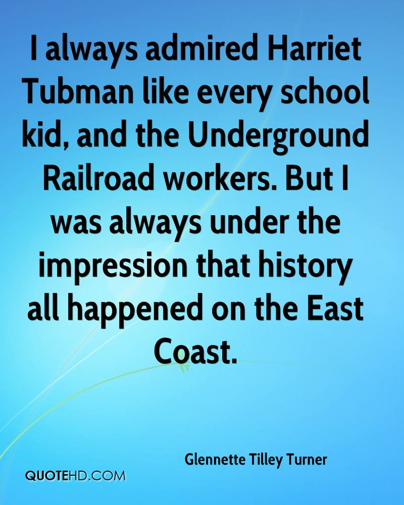I always admired Harriet Tubman like every school kid, and the Underground Railroad workers. But I was always under the impression that history all happened on the East Coast.