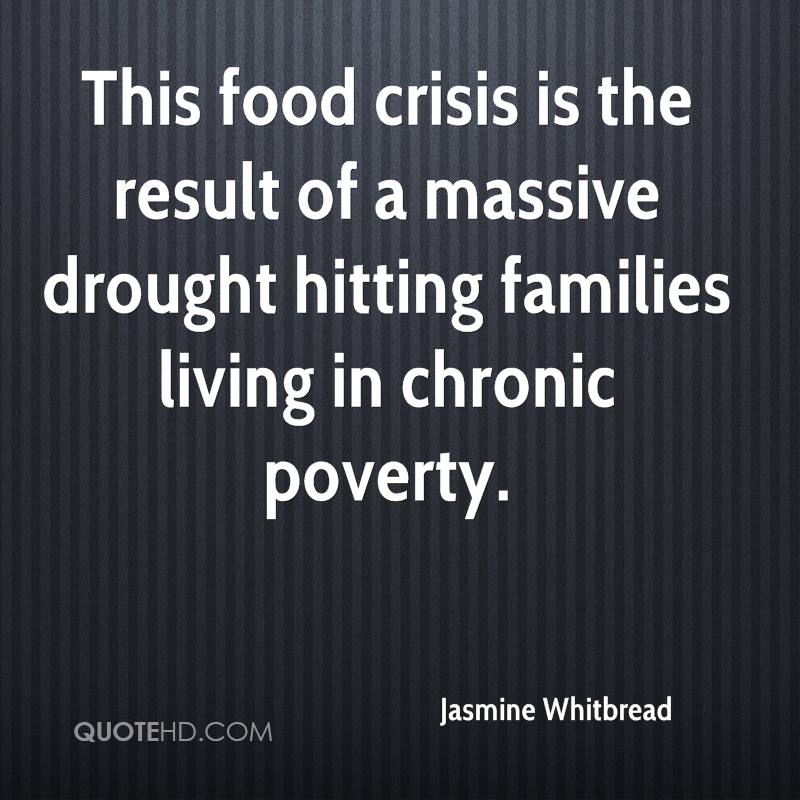 This food crisis is the result of a massive drought hitting families living in chronic poverty.
