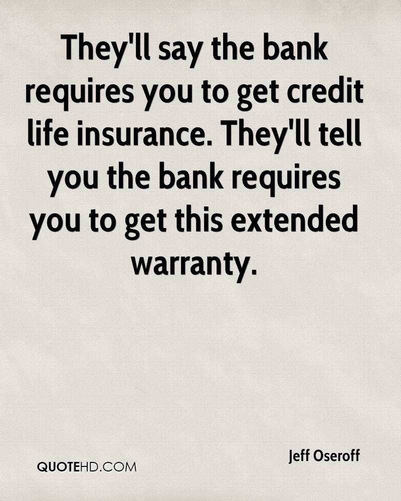 Credit Life Insurance Quotes Magnificent Jeff Oseroff Quotes  Quotehd