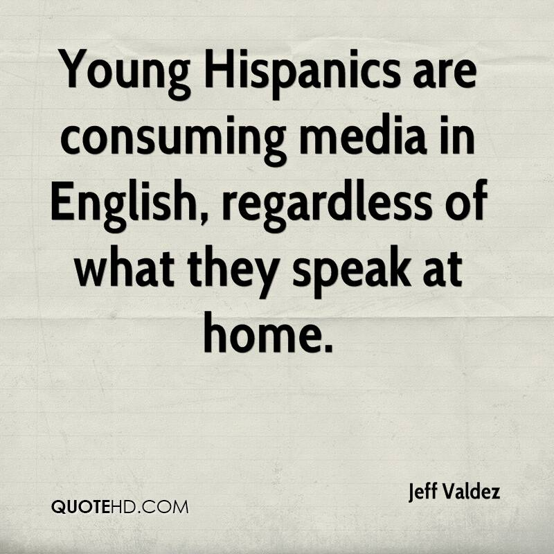 Young Hispanics are consuming media in English, regardless of what they speak at home.