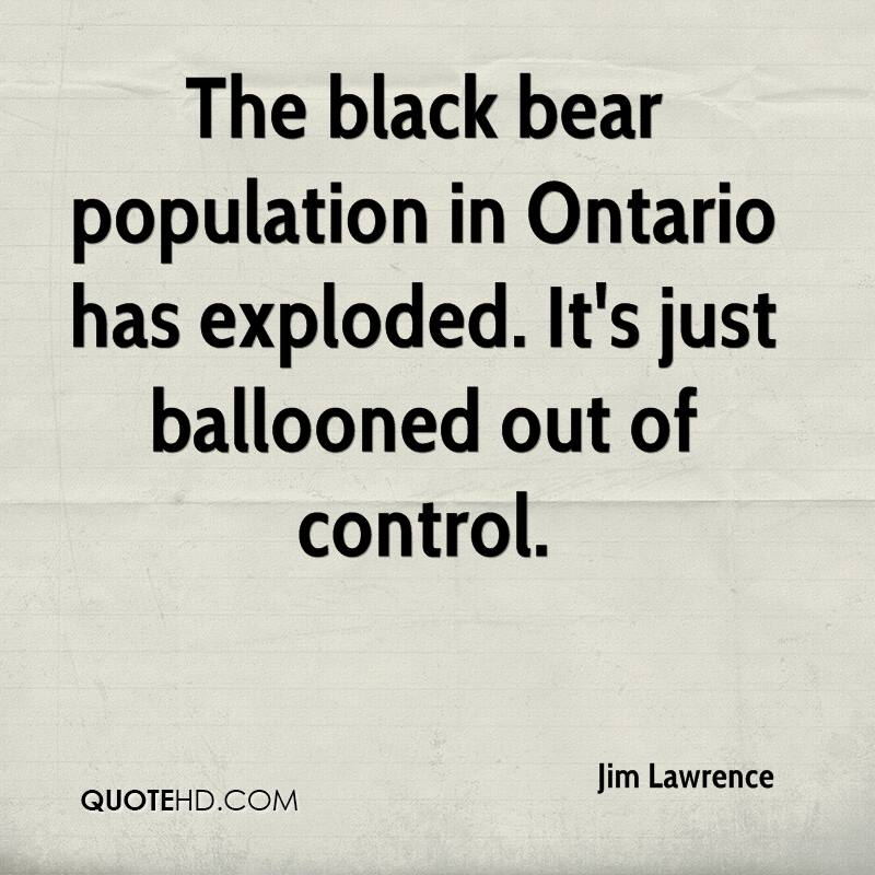 The black bear population in Ontario has exploded. It's just ballooned out of control.
