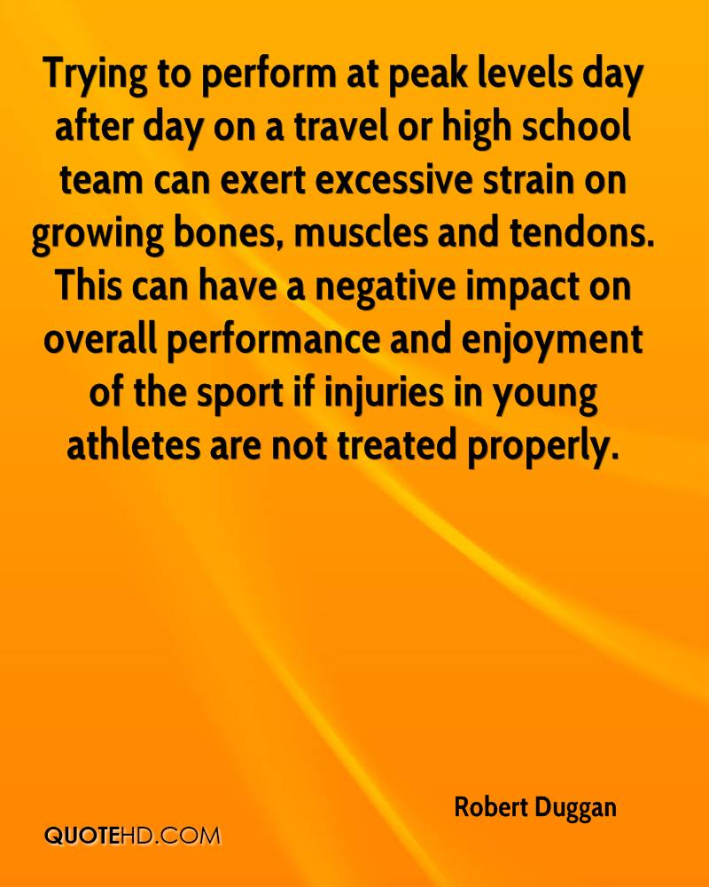 Trying to perform at peak levels day after day on a travel or high school team can exert excessive strain on growing bones, muscles and tendons. This can have a negative impact on overall performance and enjoyment of the sport if injuries in young athletes are not treated properly.