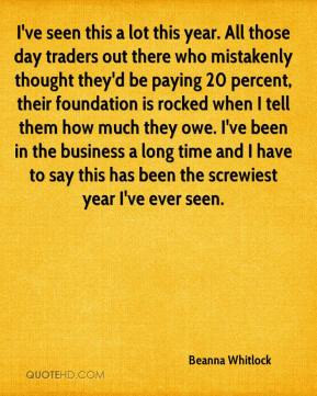 I've seen this a lot this year. All those day traders out there who mistakenly thought they'd be paying 20 percent, their foundation is rocked when I tell them how much they owe. I've been in the business a long time and I have to say this has been the screwiest year I've ever seen.
