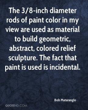 The 3/8-inch diameter rods of paint color in my view are used as material to build geometric, abstract, colored relief sculpture. The fact that paint is used is incidental.