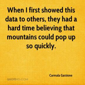Carmala Garzione - When I first showed this data to others, they had a hard time believing that mountains could pop up so quickly.
