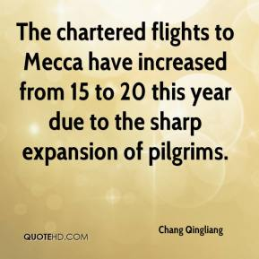 Chang Qingliang - The chartered flights to Mecca have increased from 15 to 20 this year due to the sharp expansion of pilgrims.