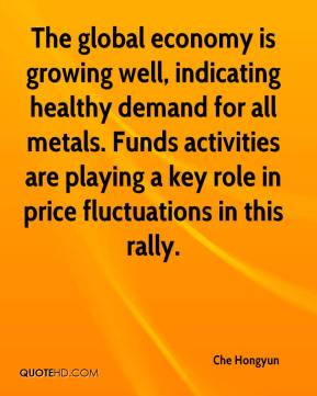 Che Hongyun - The global economy is growing well, indicating healthy demand for all metals. Funds activities are playing a key role in price fluctuations in this rally.