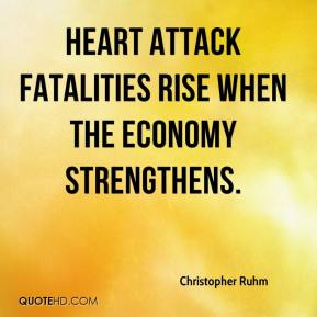 Christopher Ruhm - Heart attack fatalities rise when the economy strengthens.