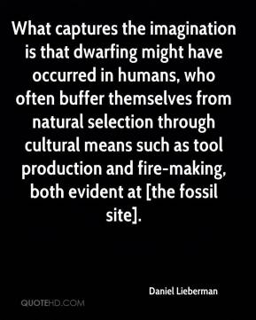 Daniel Lieberman - What captures the imagination is that dwarfing might have occurred in humans, who often buffer themselves from natural selection through cultural means such as tool production and fire-making, both evident at [the fossil site].