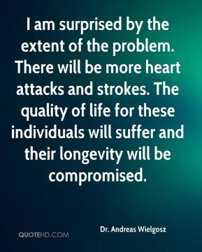 Dr. Andreas Wielgosz - I am surprised by the extent of the problem. There will be more heart attacks and strokes. The quality of life for these individuals will suffer and their longevity will be compromised.