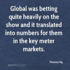 Florence Ng - Global was betting quite heavily on the show and it translated into numbers for them in the key meter markets.