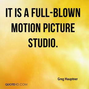 It is a full-blown motion picture studio.