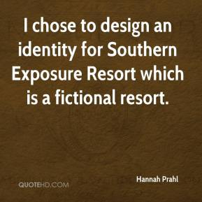 Hannah Prahl - I chose to design an identity for Southern Exposure Resort which is a fictional resort.