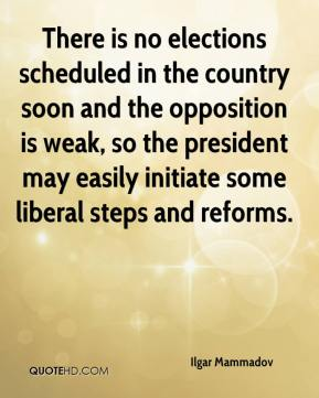 Ilgar Mammadov - There is no elections scheduled in the country soon and the opposition is weak, so the president may easily initiate some liberal steps and reforms.