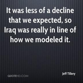 Jeff Tillery  - It was less of a decline that we expected, so Iraq was really in line of how we modeled it.