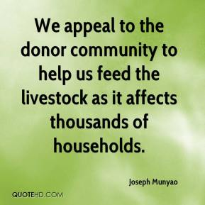 Joseph Munyao  - We appeal to the donor community to help us feed the livestock as it affects thousands of households.