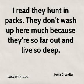 I read they hunt in packs. They don't wash up here much because they're so far out and live so deep.