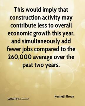 Kenneth Broux  - This would imply that construction activity may contribute less to overall economic growth this year, and simultaneously add fewer jobs compared to the 260,000 average over the past two years.