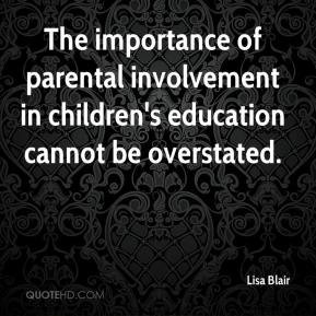 the importance of parental involvement in education Parental involvement in a child's education and school activities is one key to help make sure a child is successful academically parents can become active participants in their children's education through a number of methods read to childrenthe importance to reading to children of all ages.
