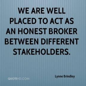 Lynne Brindley  - We are well placed to act as an honest broker between different stakeholders.