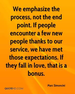 Marc Simoncini  - We emphasize the process, not the end point. If people encounter a few new people thanks to our service, we have met those expectations. If they fall in love, that is a bonus.