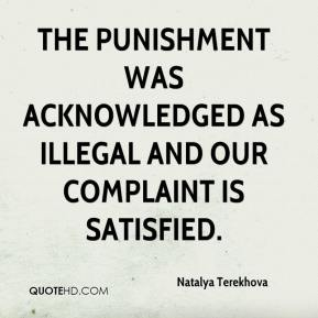 Natalya Terekhova  - The punishment was acknowledged as illegal and our complaint is satisfied.