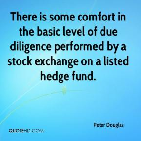 Peter Douglas  - There is some comfort in the basic level of due diligence performed by a stock exchange on a listed hedge fund.