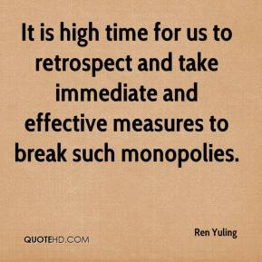 It is high time for us to retrospect and take immediate and effective measures to break such monopolies.