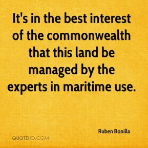 It's in the best interest of the commonwealth that this land be managed by the experts in maritime use.