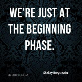 Shelley Borysiewicz  - We're just at the beginning phase.